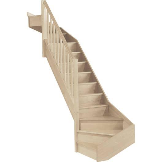 escalier soft quart tournant bas et haut gauche h274 rampe. Black Bedroom Furniture Sets. Home Design Ideas