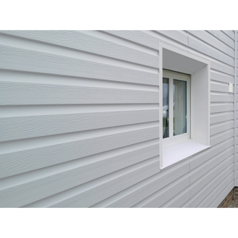 clin pour bardage pvc blanc ral 9003 freefoam solid m. Black Bedroom Furniture Sets. Home Design Ideas