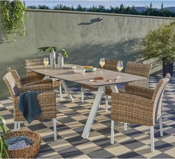 Salon De Jardin Grosfillex Ibiza Taupe au meilleur prix ...