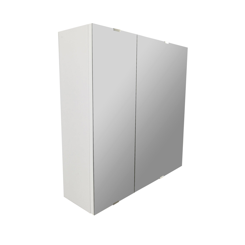 Armoire A Glace Leroy Merlin armoire de toilette l. 58 cm, blanc, sensea essential