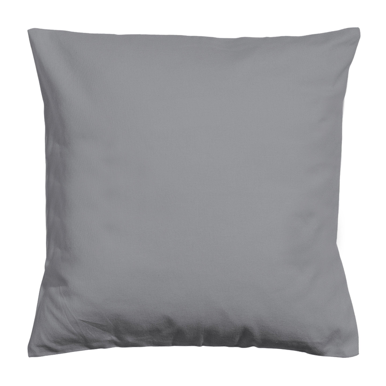 Housse de coussin Newelema, gris H.40 x l.40 cm