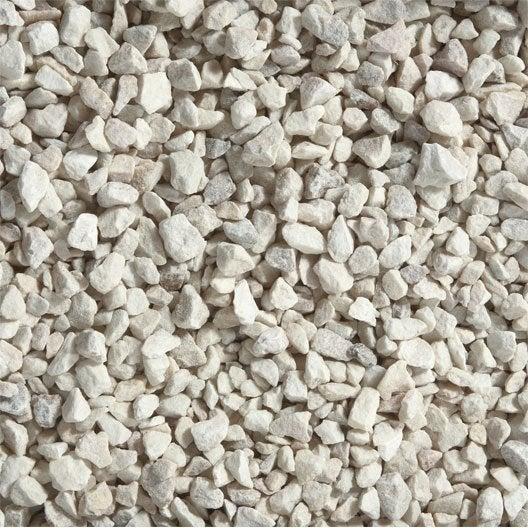 Graviers en marbre, blanc, 8/1 6mm, 25 kg