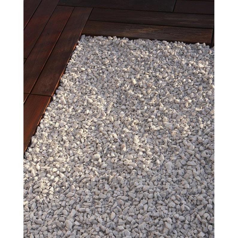 graviers en marbre blanc 8 1 6mm 25 kg leroy merlin. Black Bedroom Furniture Sets. Home Design Ideas