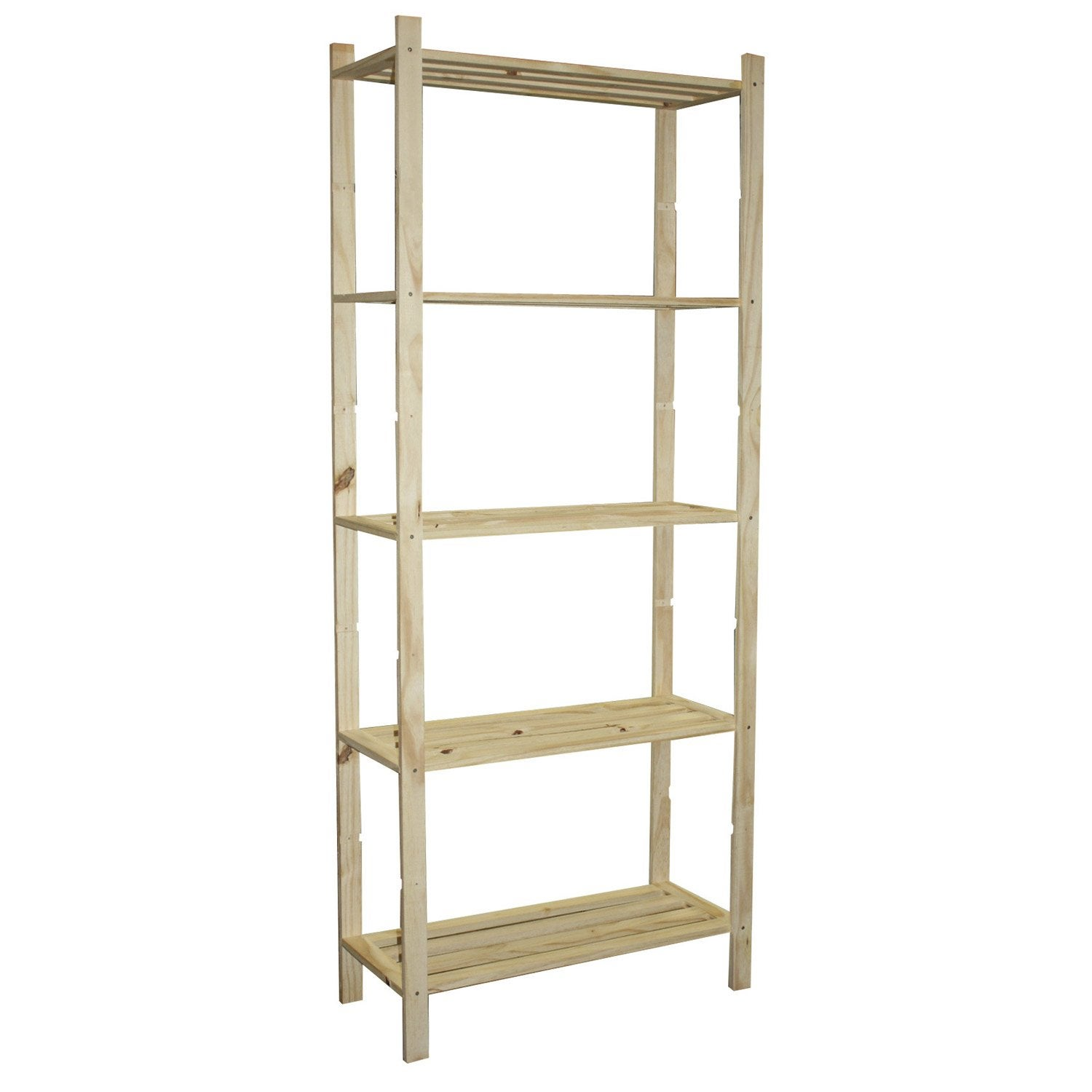 Etag re pin 5 tablettes x x cm leroy for Etagere pour serre de jardin