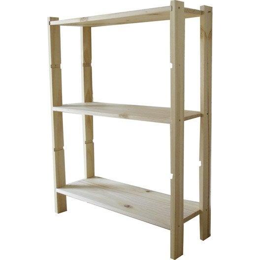 etag re en pin 3 tablettes leine l65xh90xp28cm leroy merlin. Black Bedroom Furniture Sets. Home Design Ideas