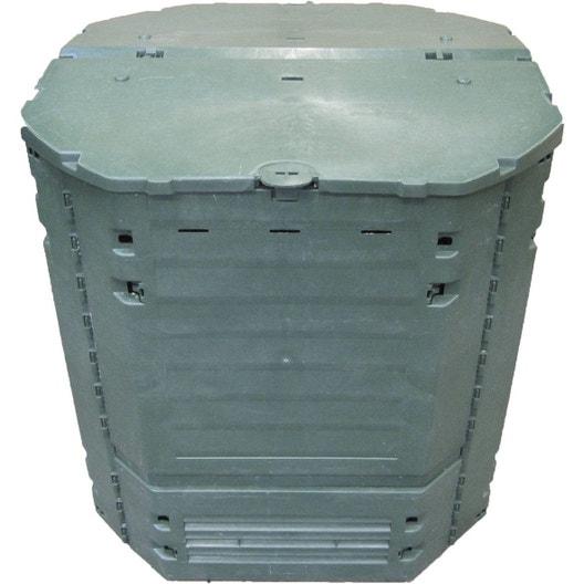 composteur monobloc garantia 626003 vert sapin 900 l leroy merlin. Black Bedroom Furniture Sets. Home Design Ideas