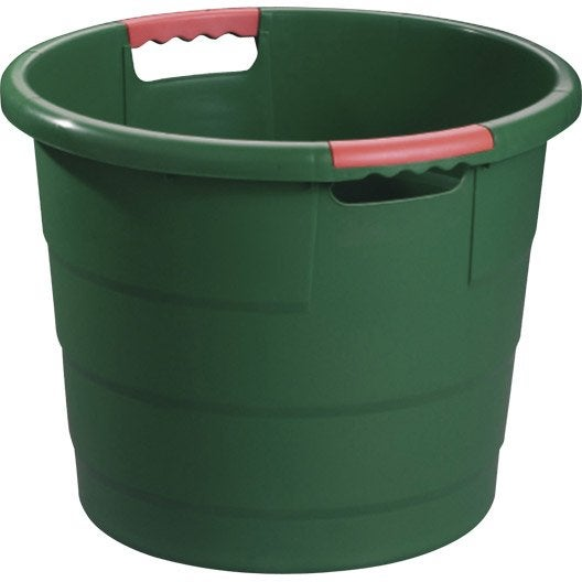 seau monobloc garantia bac toni vert sapin 30 l leroy merlin. Black Bedroom Furniture Sets. Home Design Ideas