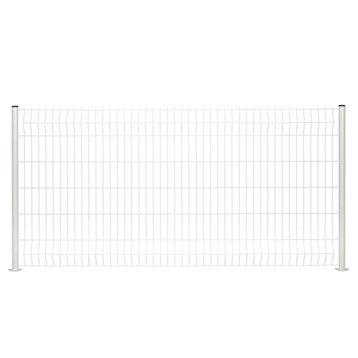 Panneau grillagé NATERIAL blanc H.0.6 x L.2.48 m, maille H.200 x l.50 mm