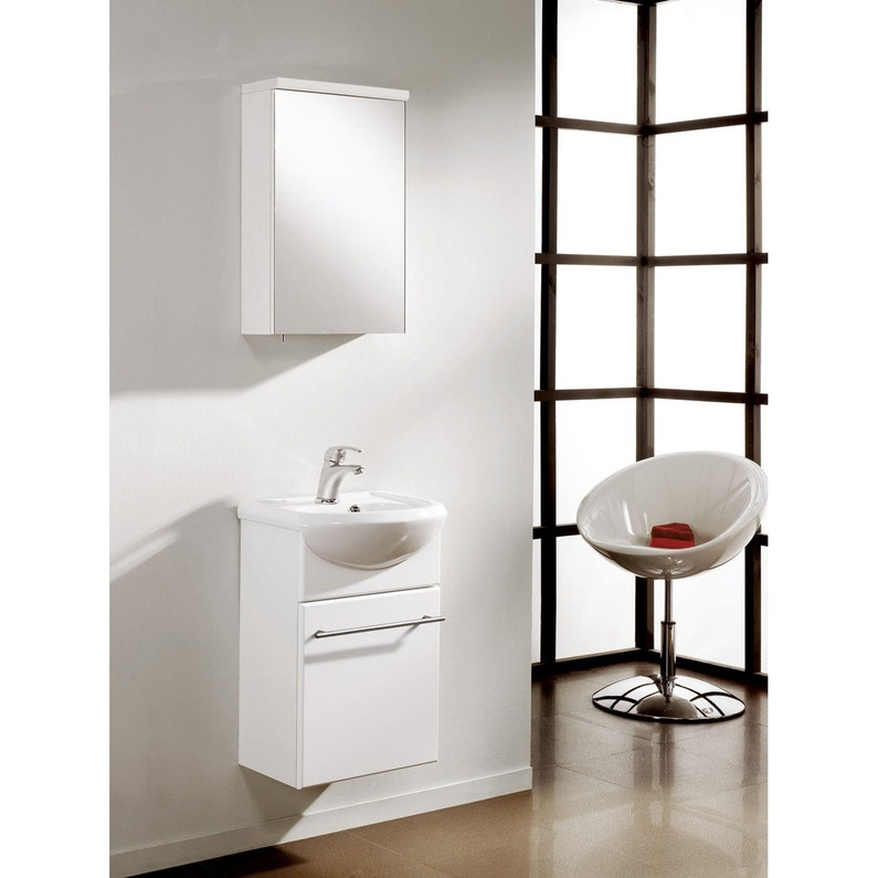 Meuble Vasque 45 Cm Blanc Infinity Leroy Merlin