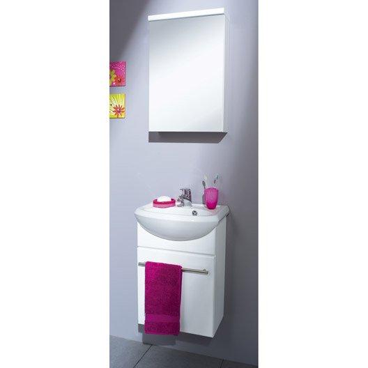 Meuble vasque x x cm infinity leroy merlin - Meuble vasque toilette ...