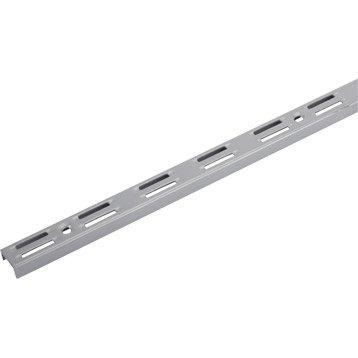 Crémaillère double acier, H.250 cm entraxe 50 mm