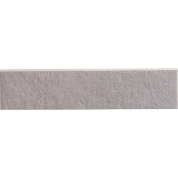Lot de 5 plinthes Métropolis gris, l.7 x L.30 cm
