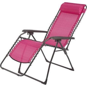 Hamac transat et bain de soleil salon de jardin table for Transat relax de jardin