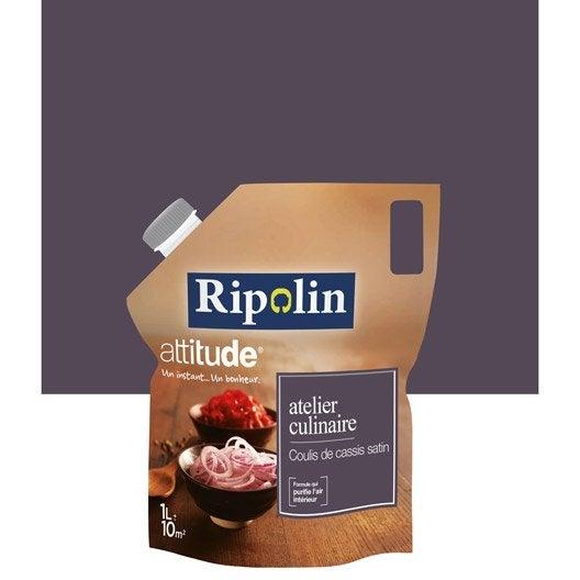 Peinture violet coulis de cassis ripolin attitude atelier for Ripolin gris souris