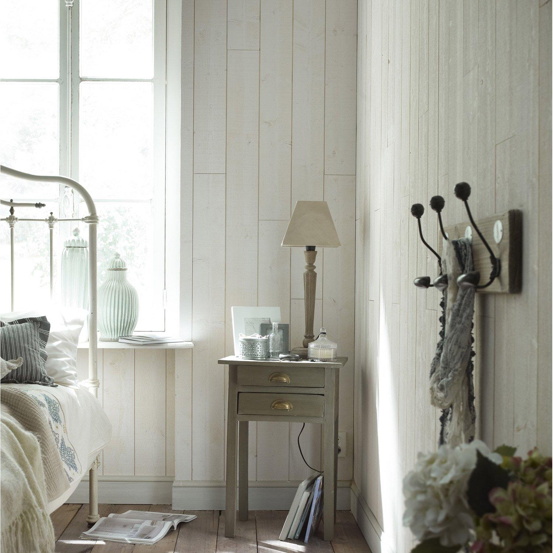 lambris epic a brut de sciage blanc x cm mm leroy merlin. Black Bedroom Furniture Sets. Home Design Ideas