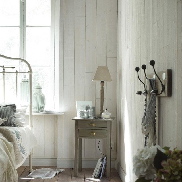 Une chambre adulte avec lambris sur les murs | Leroy Merlin