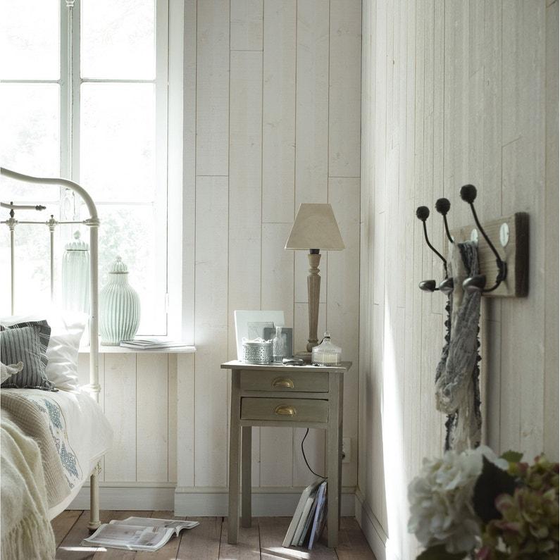 lambris epic a brut de sciage blanc x cm ep. Black Bedroom Furniture Sets. Home Design Ideas