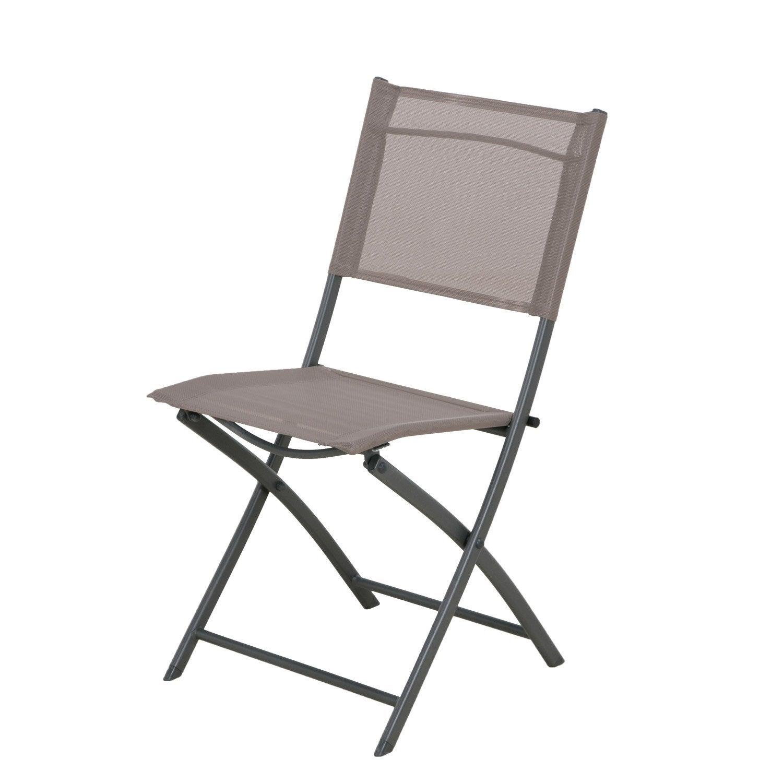 chaise de jardin en acier denver taupe - Chaise Exterieur