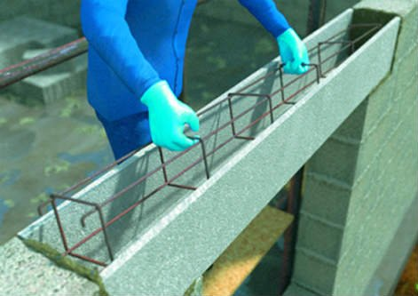 Comment poser un manu linteau en b ton leroy merlin for Comment fixer un voile d ombrage