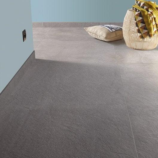 Carrelage sol et mur gris effet pierre story x for Carrelage sol fine epaisseur