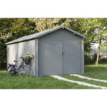 Garage bois Montagny 1 voiture, 13.78 m²
