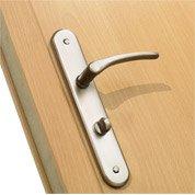 Poignées de porte Aby sans trou, aluminium mat, entraxe 195mm