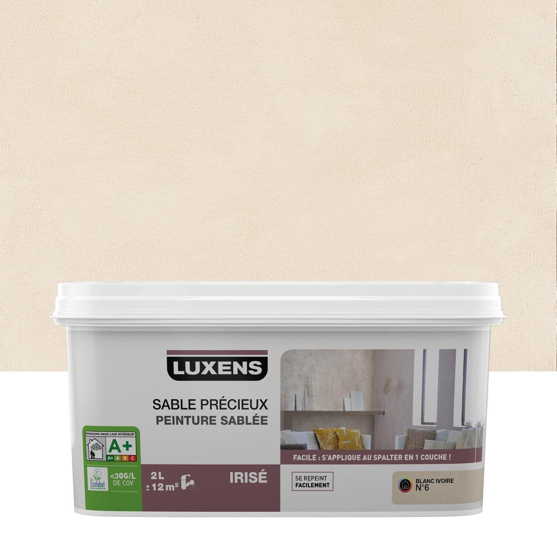 Peinture à effet, Sable précieux LUXENS, blanc ivoire 6, 2 l