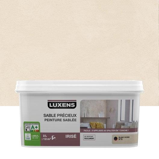 Peinture effet sable pr cieux luxens blanc ivoire 6 2 l leroy merlin - Peinture blanc ivoire ...