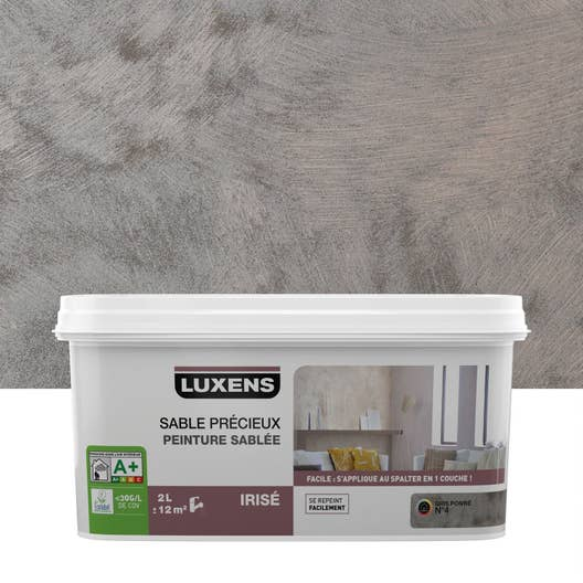 peinture effet sable prcieux luxens gris poivr 4 2 l