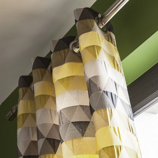 Rideau tamisant, Triangles, bambou, l.140 x H.260 cm