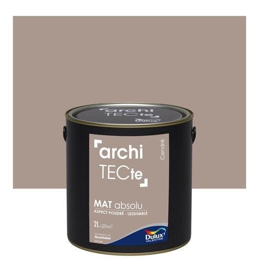 Peinture murale couleur peinture acrylique leroy merlin for Peinture dulux valentine gris