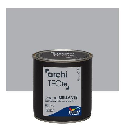 peinture gris b ton cir dulux valentine architecte 0 5 l. Black Bedroom Furniture Sets. Home Design Ideas
