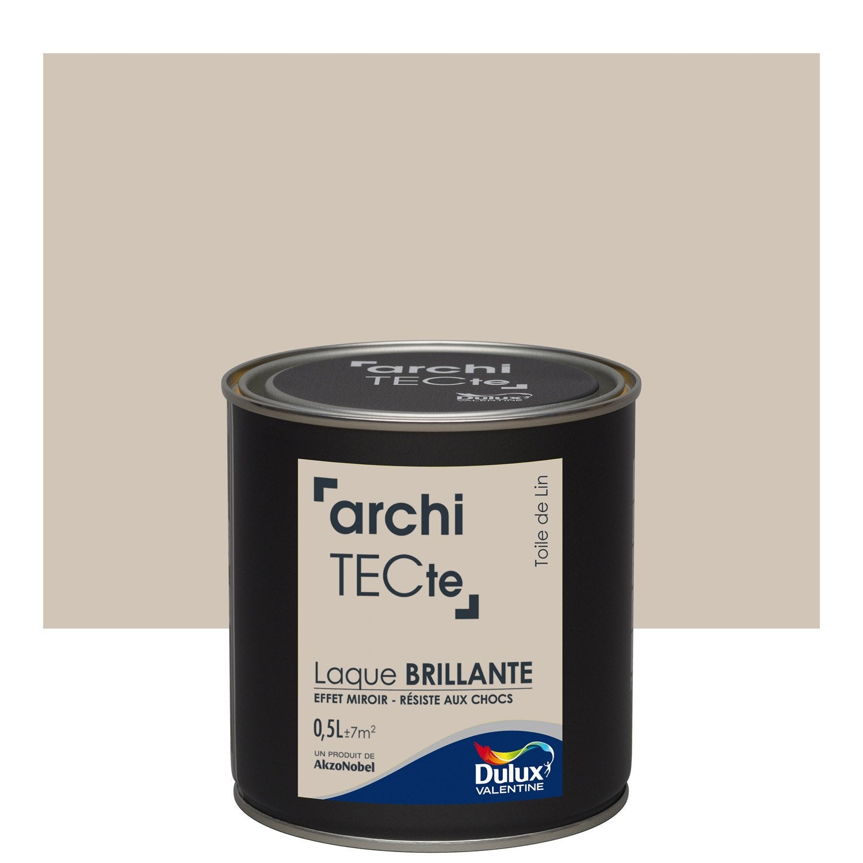 peinture beige toile de lin brillant dulux valentine architecte 0 5 l leroy merlin. Black Bedroom Furniture Sets. Home Design Ideas