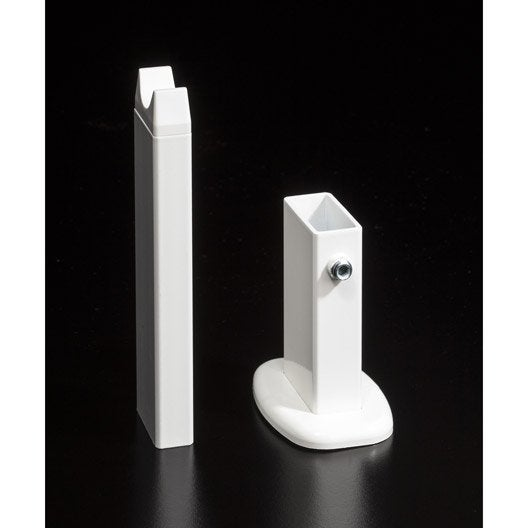 pied blanc pour radiateur deltacalor firstone leroy merlin. Black Bedroom Furniture Sets. Home Design Ideas