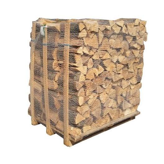 bois de chauffage, bûche 33 cm, 2 stères, 1.4m³ | leroy merlin