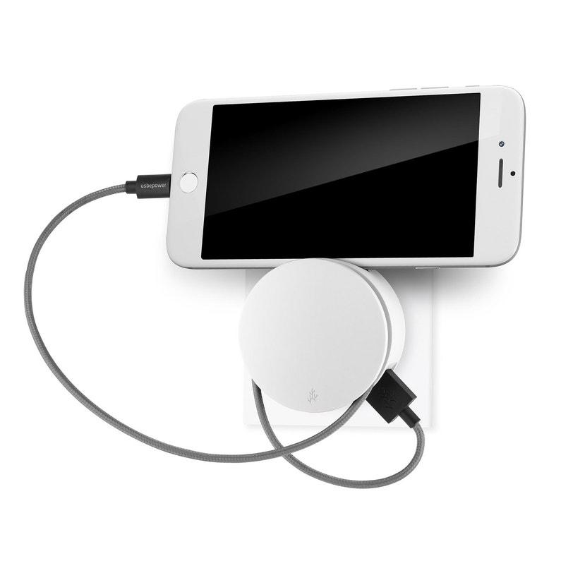 Chargeur Usb 2 Prises Blanc Usbepower