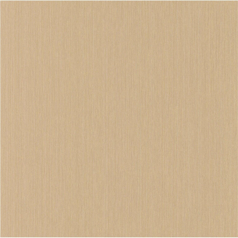 Papier Peint Expanse Uni Fil Boutique Marron Clair Leroy Merlin