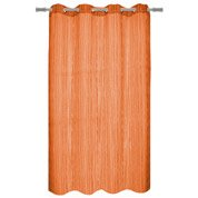 Voilage tamisant, Maya, orange, l.140 x H.260 cm INSPIRE