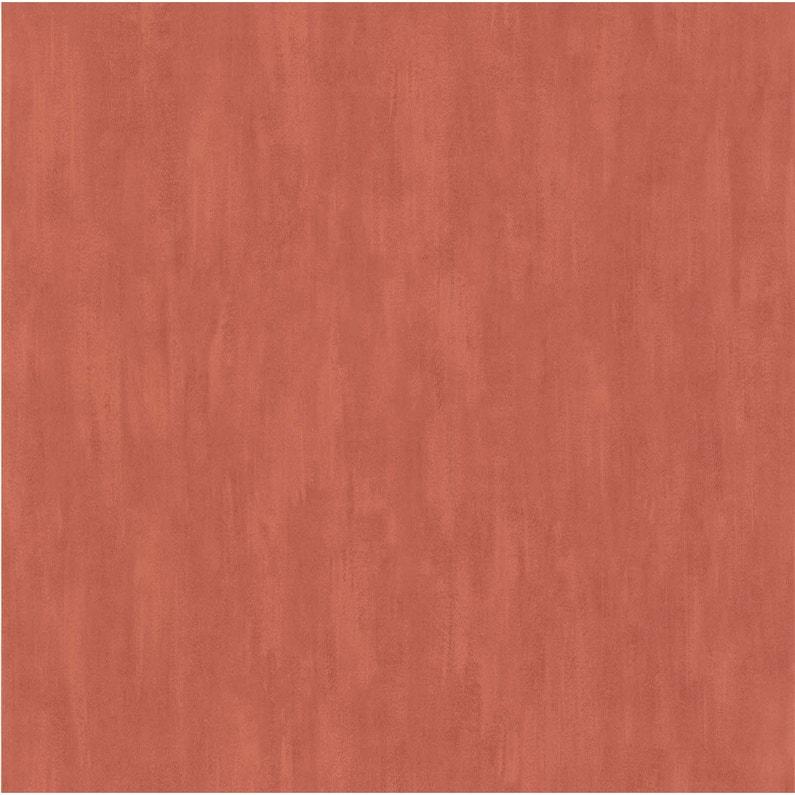 Papier Peint Vinyle Uni Pinceau Orange Brique Leroy Merlin