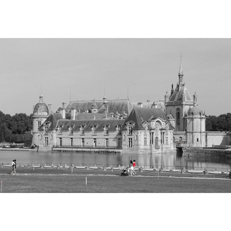 Toile Imprimée Château Chantilly Noir Blanc Artis L97 X H65 Cm