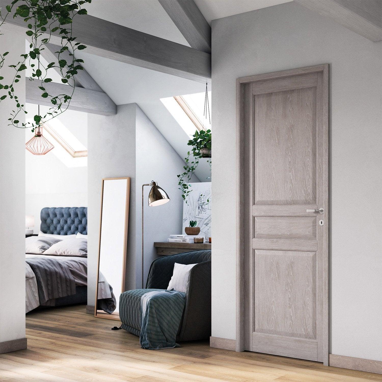 bloc porte vernis ch ne ceruse artens x cm poussant gauche leroy merlin. Black Bedroom Furniture Sets. Home Design Ideas