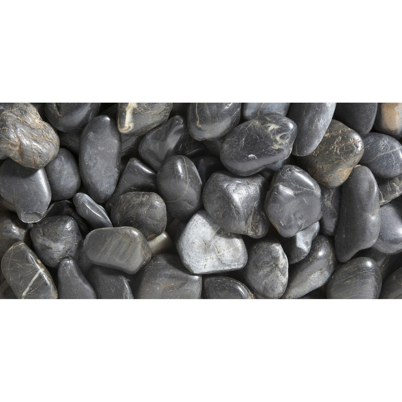 Galets pierre naturelle noir Zen 50/70mm, 25 kg | Leroy Merlin