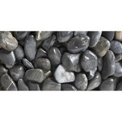 Galets pierre naturelle noir Zen 50/70mm, 25 kg