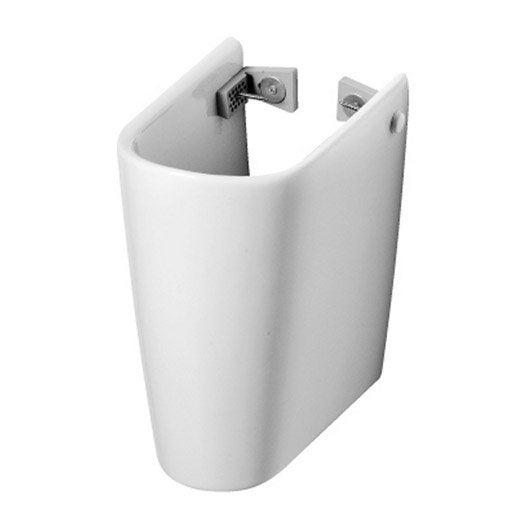 Cache siphon en c ramique blanc ideal standard seventies for Cache tuyau radiateur