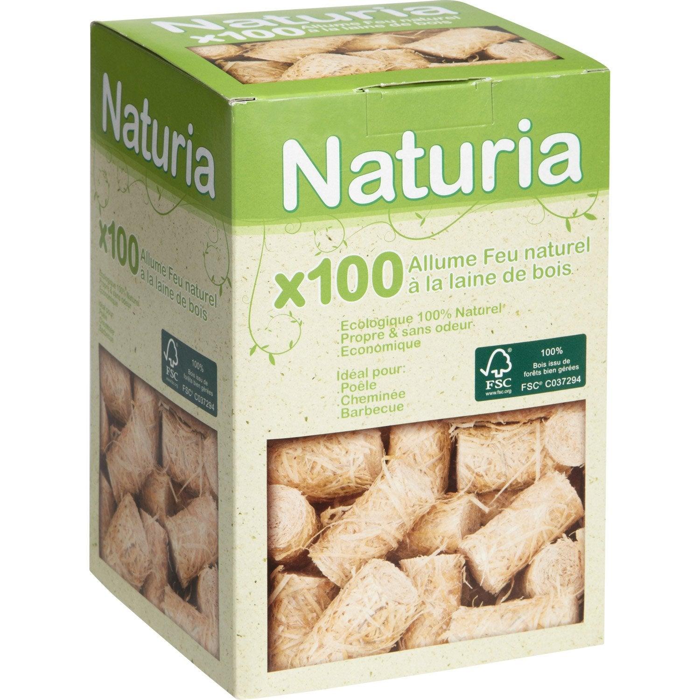 allume-feux 100 % naturels naturia, boite de 100 | leroy merlin
