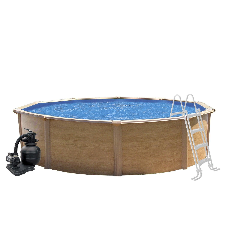 piscine hors sol acier trigano canyon rondem leroy merlin. Black Bedroom Furniture Sets. Home Design Ideas