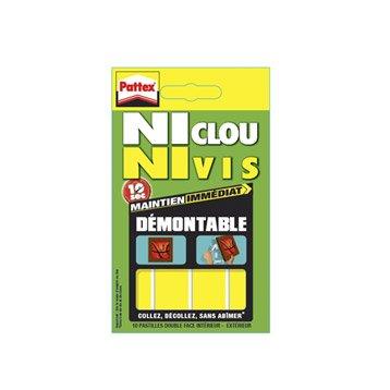 Colle mastic multi-supports, PATTEX Ni Clou Ni Vis, jaune