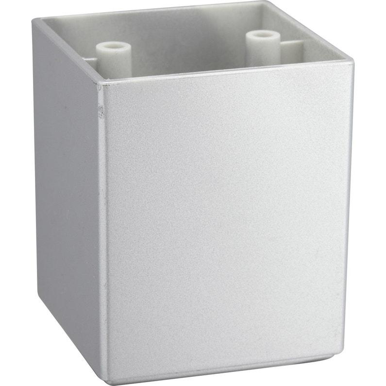 Pied De Meuble Carre Fixe Plastique Gris 6 4 Cm Leroy Merlin