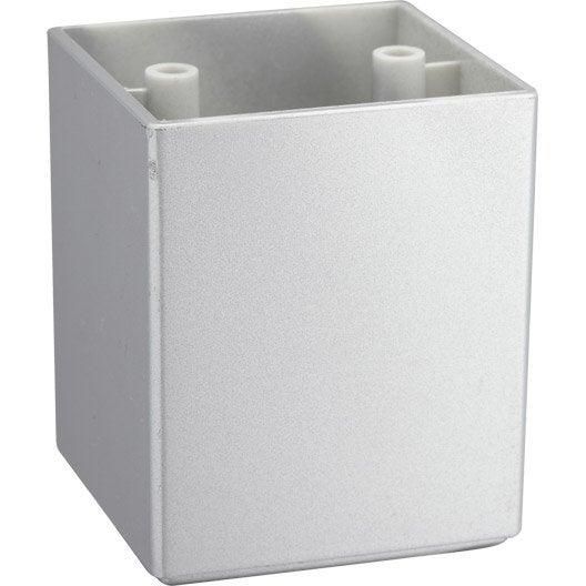Pied de meuble carr fixe en plastique gris leroy merlin - Meuble en plastique ...