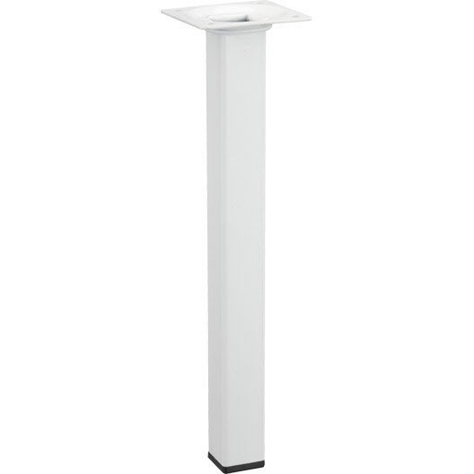 Pied de table basse carr fixe en acier epoxy blanc 25cm leroy merlin - Pied de table basse leroy merlin ...
